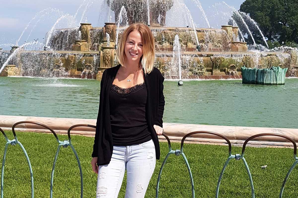 Mitarbeiterin Claudia Neumann in Chicago