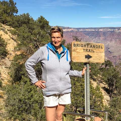 Dagmar Sievers im Grand-Canyon-Nationalpark in Arizona