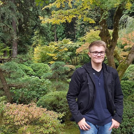 Felix im Portland Japanese Garden