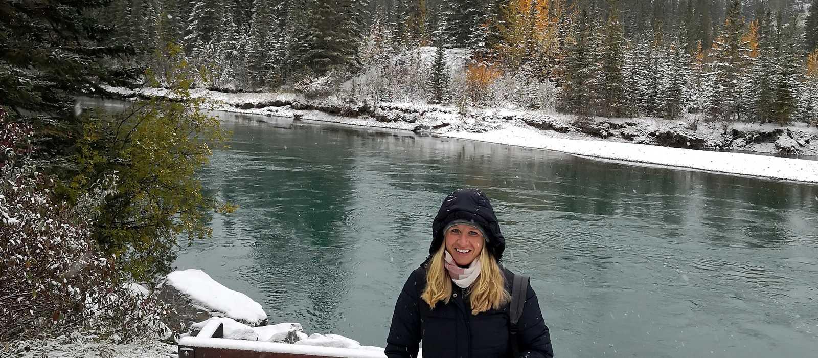 CANUSA-Mitarbeiterin Friedericke Oelzen im Banff National Park