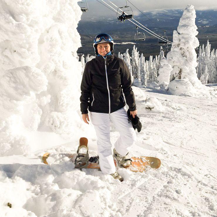 Mitarbeiterin Bente im Big White Ski Resort