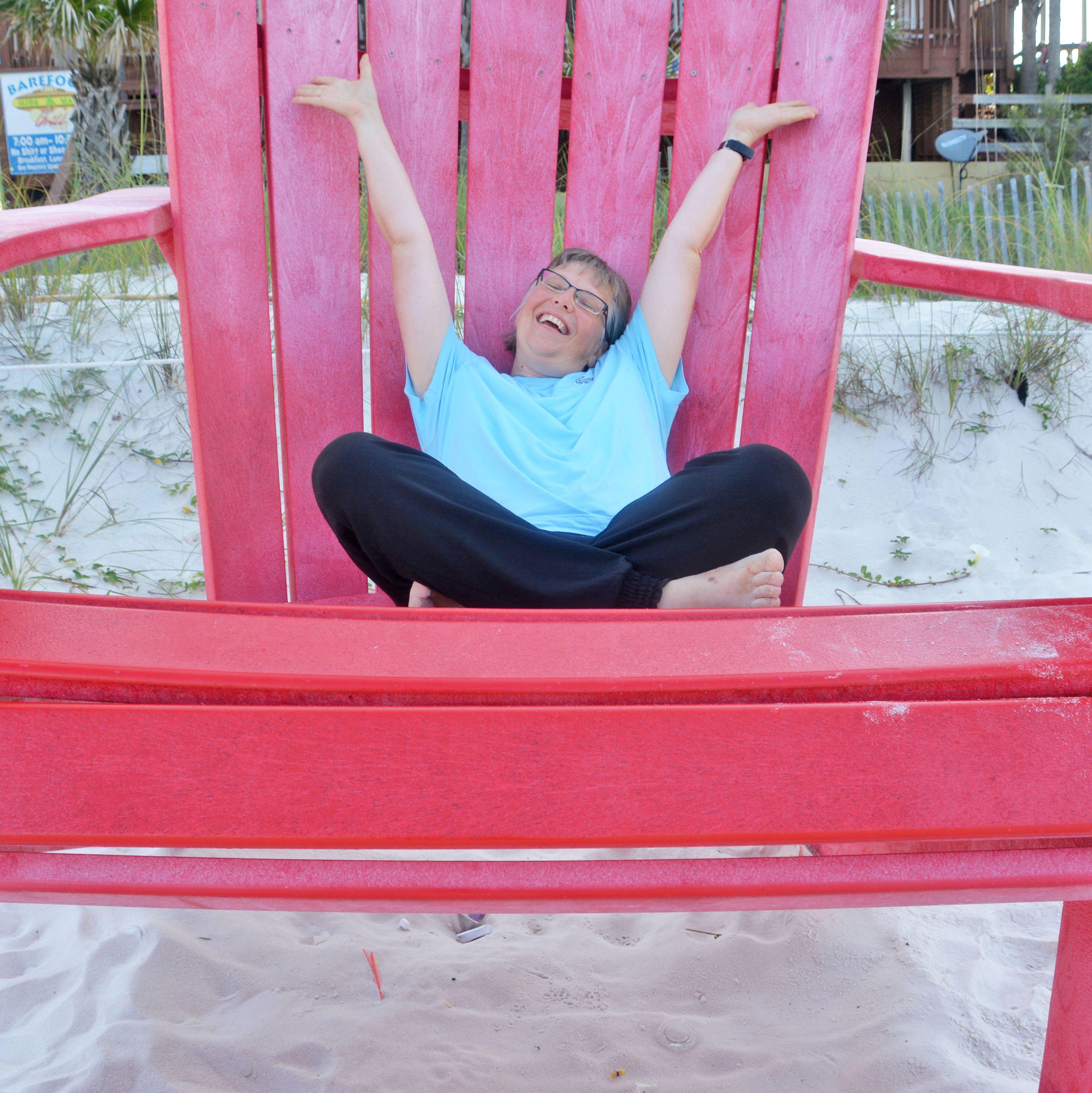 Karin Buhse am Panama Beach in Florida