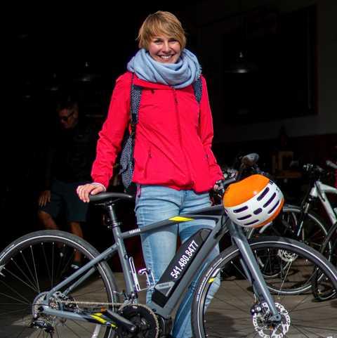 CANUSA-Mitarbeiterin Lena Weigert auf einer Fahrradtour durch Bend, Oregon