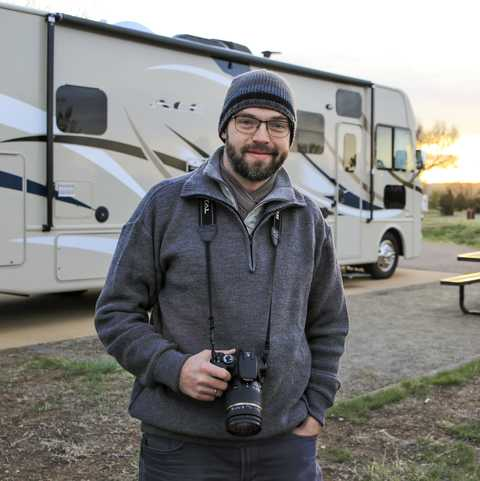 Malte Gaack im Chatfield State Park Campground