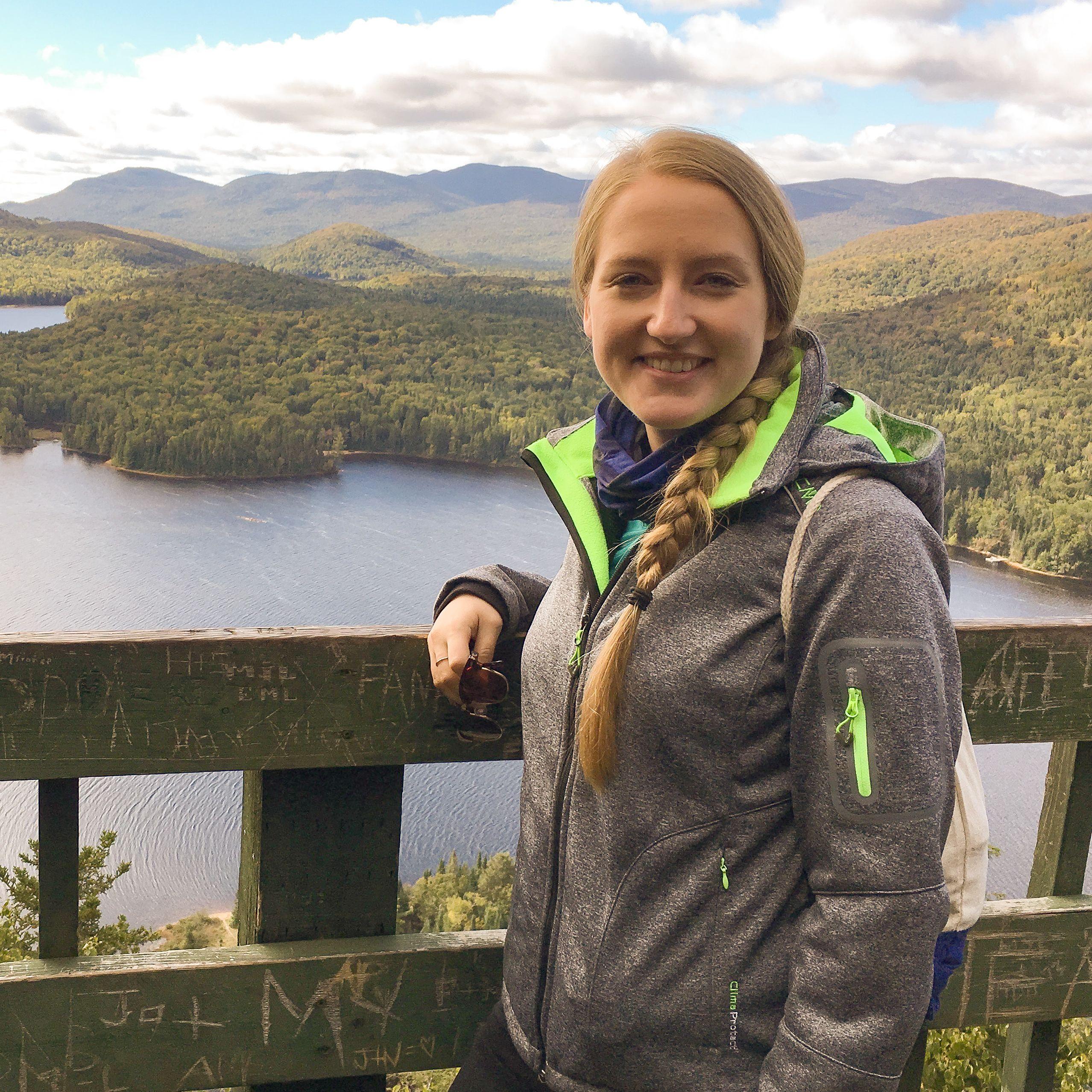 CANUSA Mitarbeiterin Melanie Schubert besuchte den Regionalpark Montagne du Diable, Québec
