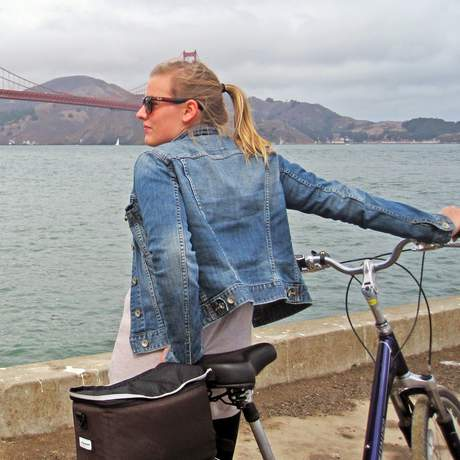 Michelle Lentfer am Golden Gate