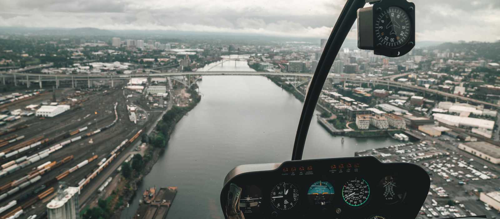 Portland aus der Vogelperspektive