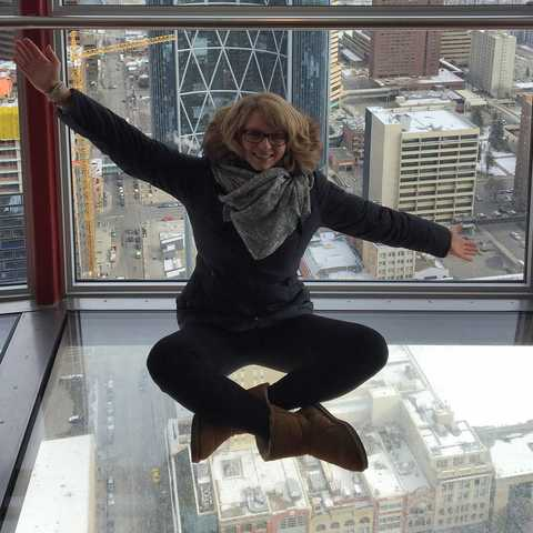 Nele im Calgary Tower