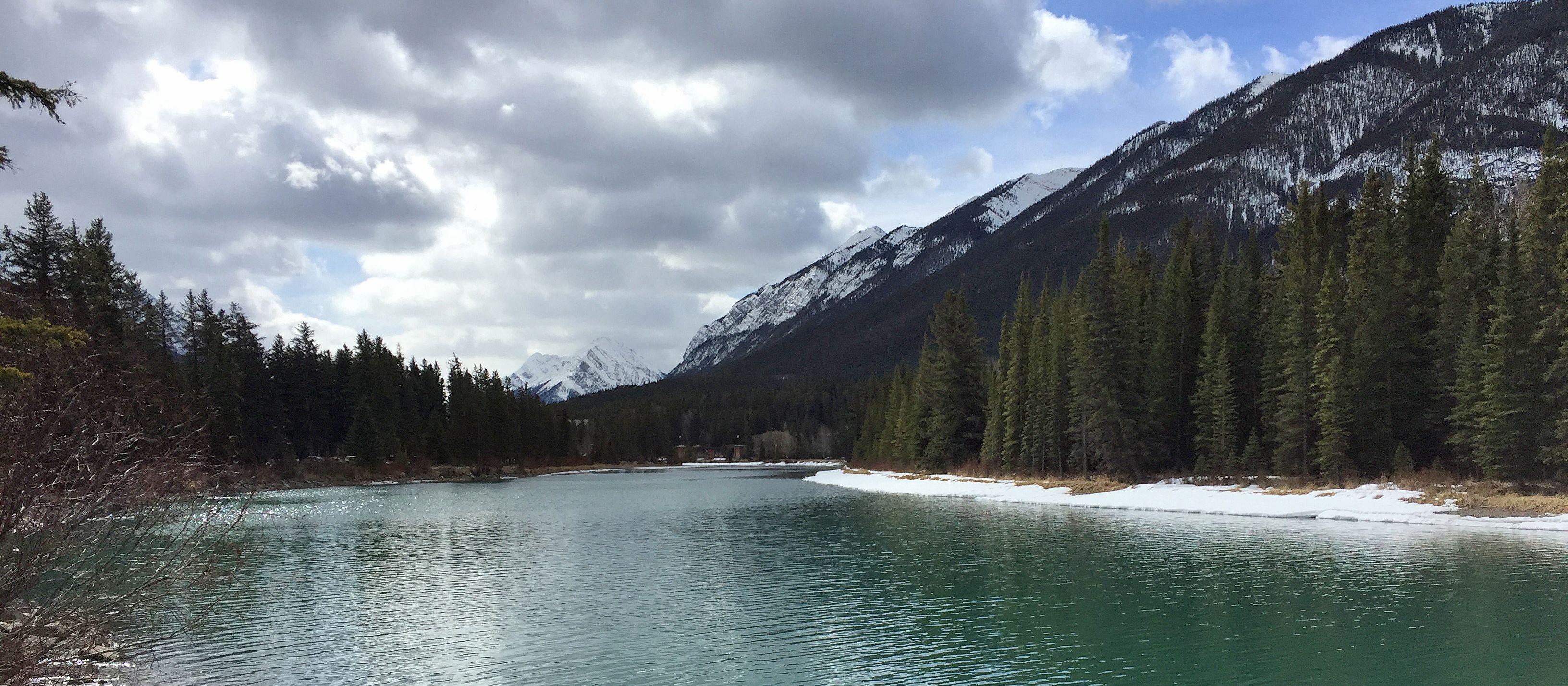 Winter-Wanderung in Banff