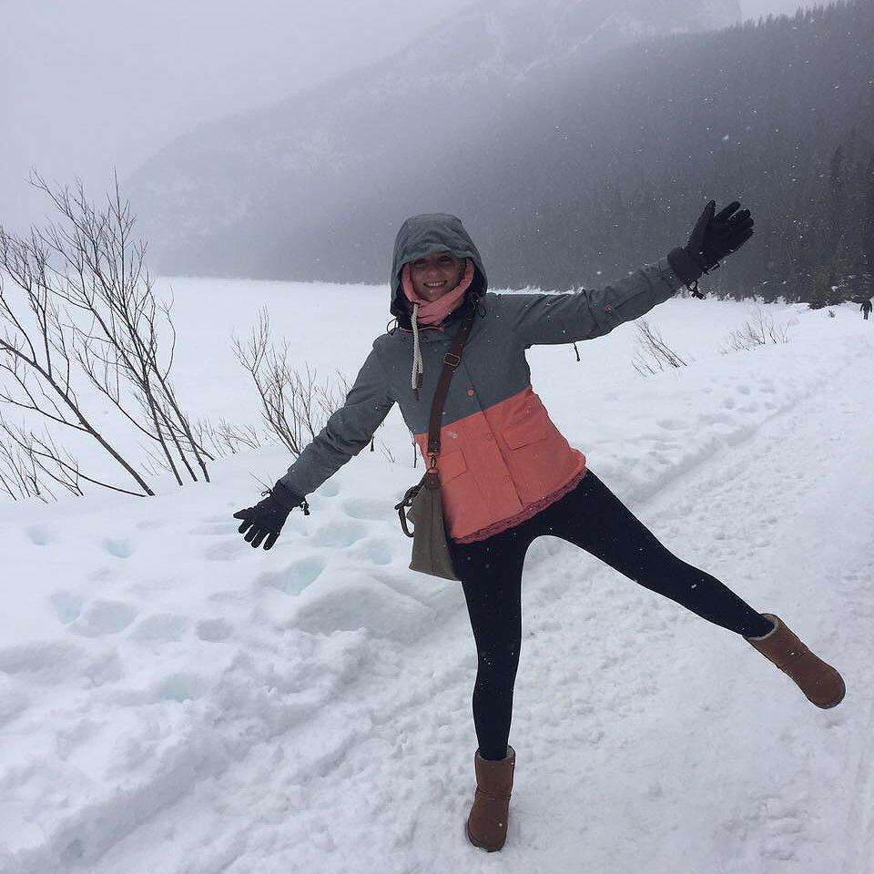 Nele im canadischen Schnee