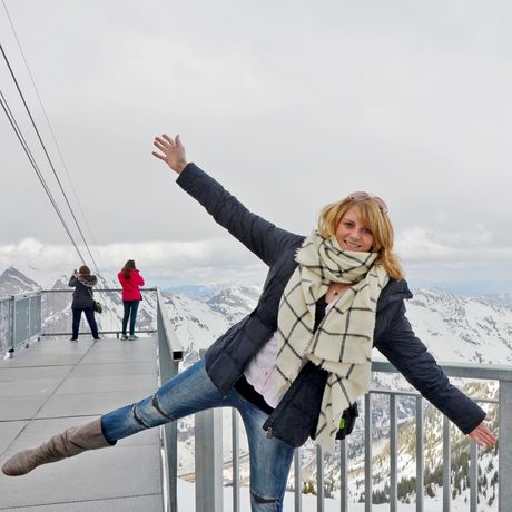 Nele Remstedt im Snowbird Skigebiet, Utah