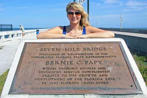 Nele Remstedt auf der Seven Mile Bridge
