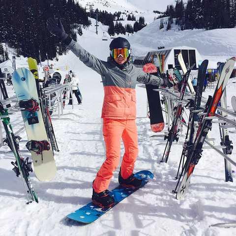 Nele in der Skischule
