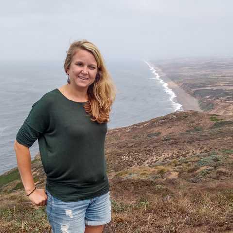 CANUSA Mitarbeiterin Nicola Somfleht im Point Reyes National Seashore Schutzgebiet in Kalifornien