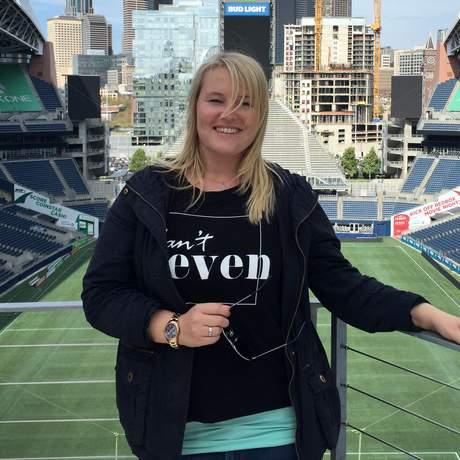Nora Gruner im CenturyLink Field in Seattle