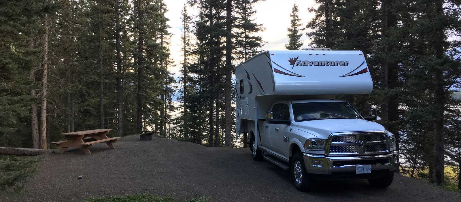 Campsite auf dem Interlakes Campground