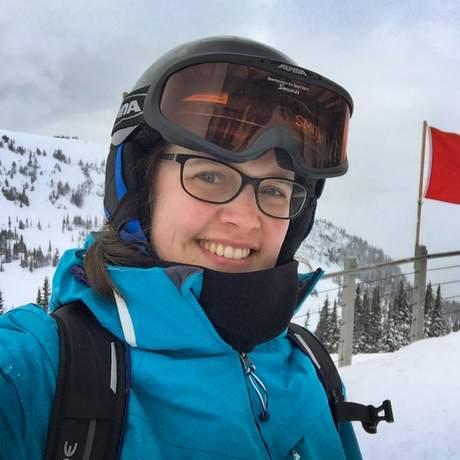 Rebecca im Whistler Skigebit