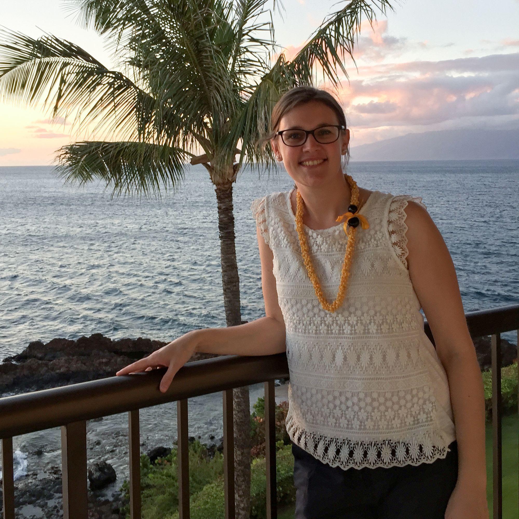 Rebecca auf Maui