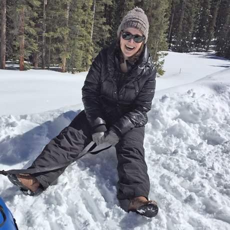 Sabrina beim Reifenrutschen in Keystone, Colorado