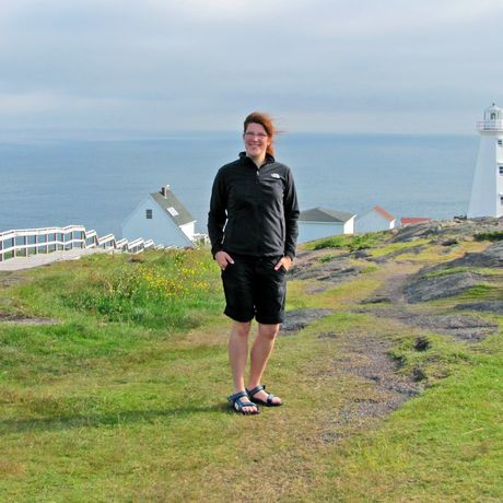 Wiebke am Cape Spear