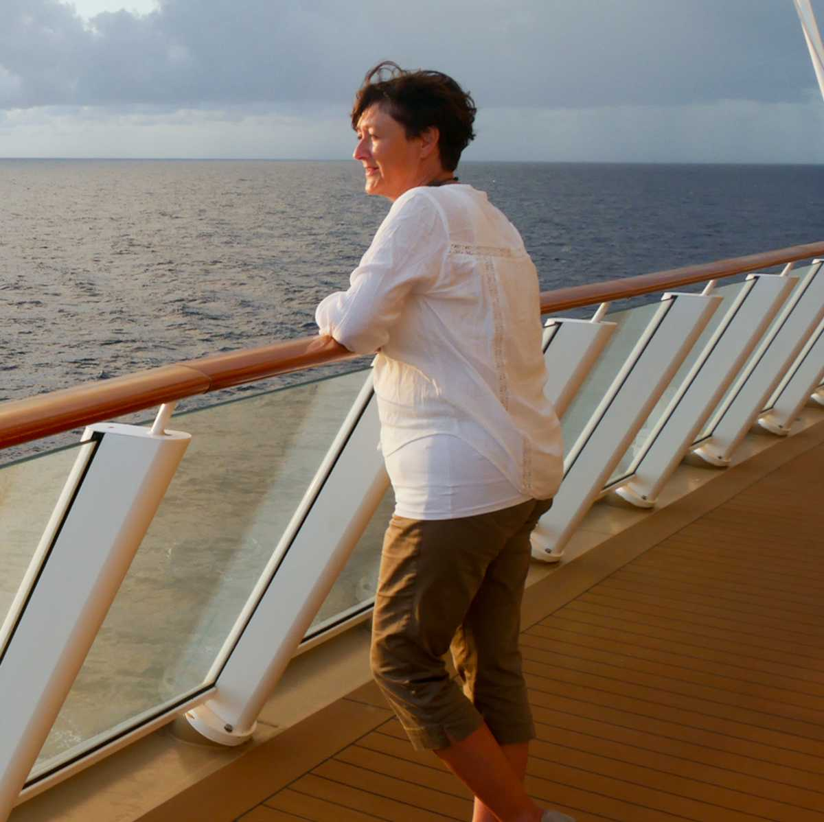 Miatarbeiterin Angelika auf der Norwegian Getaway von Norwegian Cruise Line