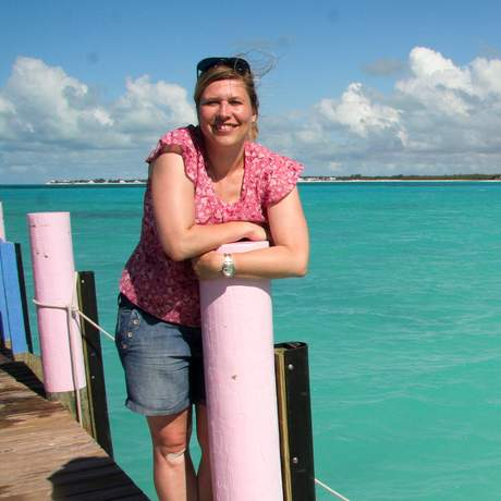 Kathrin auf den Bahamas
