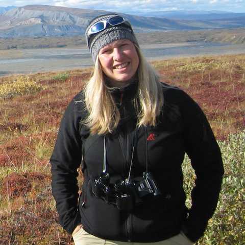 Kathrin Mantzel in der Landschaft