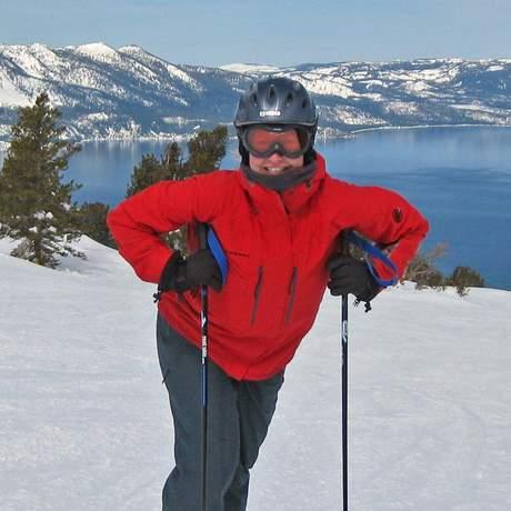 Kathrin Mantzel in Ski-Montur
