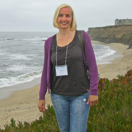 Mandy Drews an der Küste von Half Moon Bay