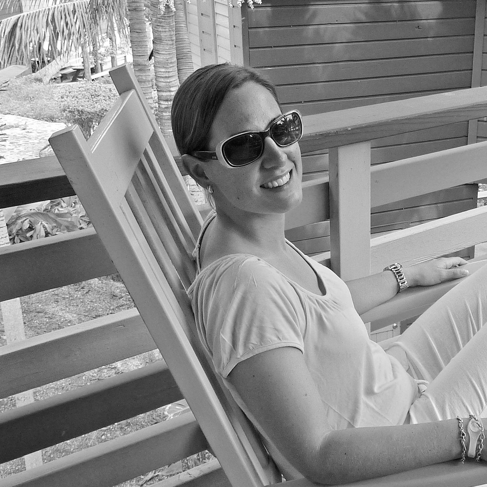 Nadine Schäfer im Compass Point Beach Resort