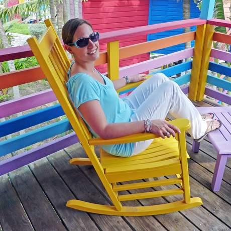 Nadine Roesel im Compass Point Beach Resort