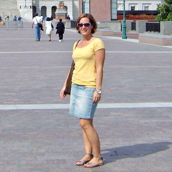 Nadine Schäfer vor dem Kapitol