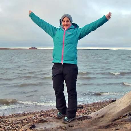 Nadine Roesel in Tuktoyaktuk