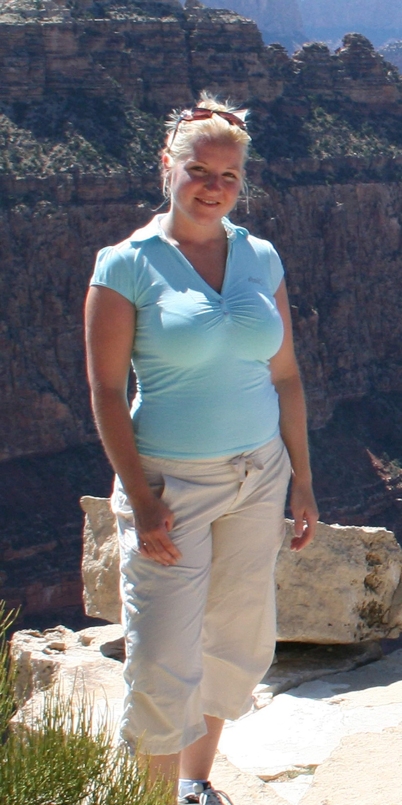 Sandra im Grand Canyon