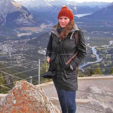 Bianca Schabel auf dem Sulphur Moutain in Banff
