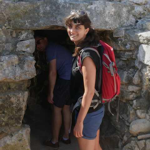 CANUSA Mitarbeiterin Sabrina Gronwald besichtigt eine Maya-Ruine in Tulum, Mexiko