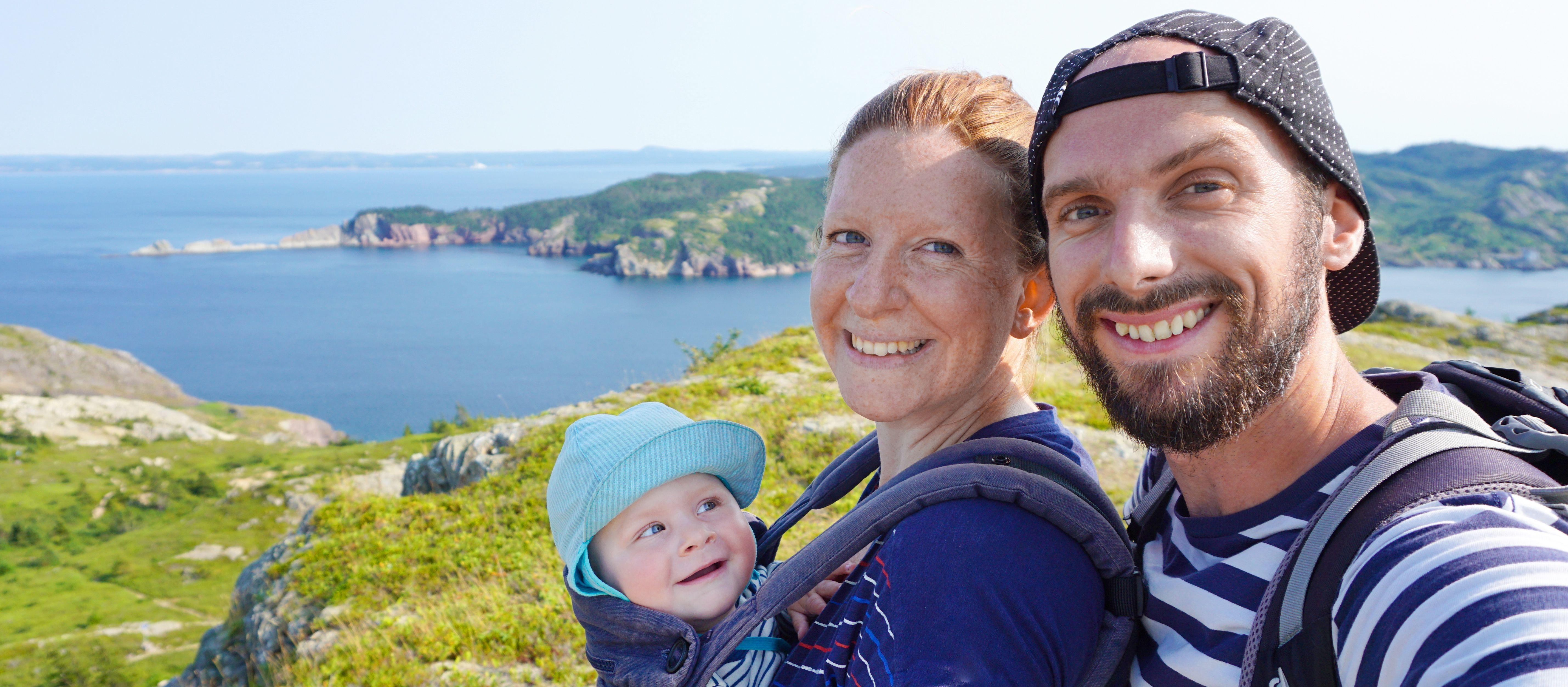 CANUSA Mitarbeiterin Odette mit ihrer Familie in Brigus in Neufundland