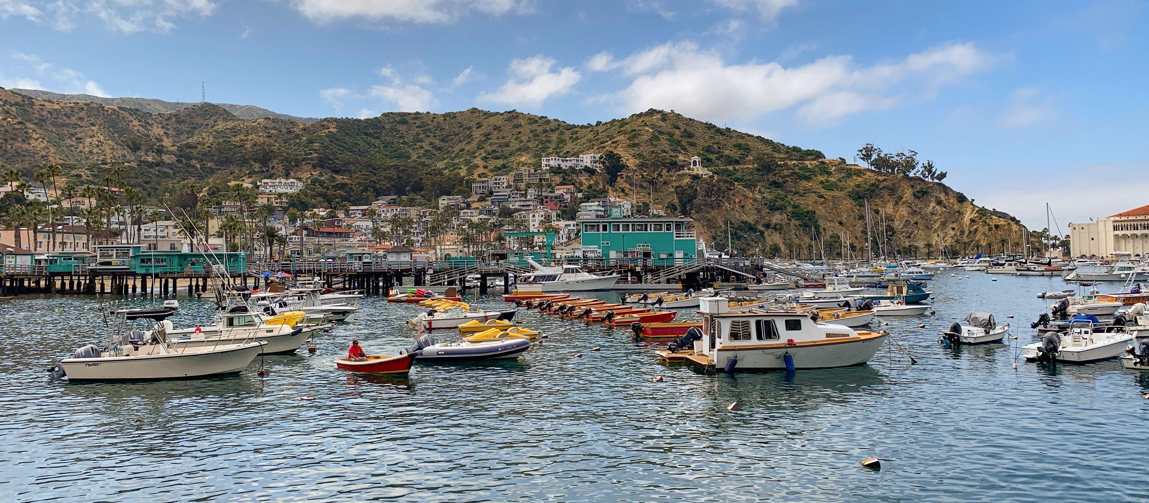 Der Hafen von Avalon auf Santa Catalina Island