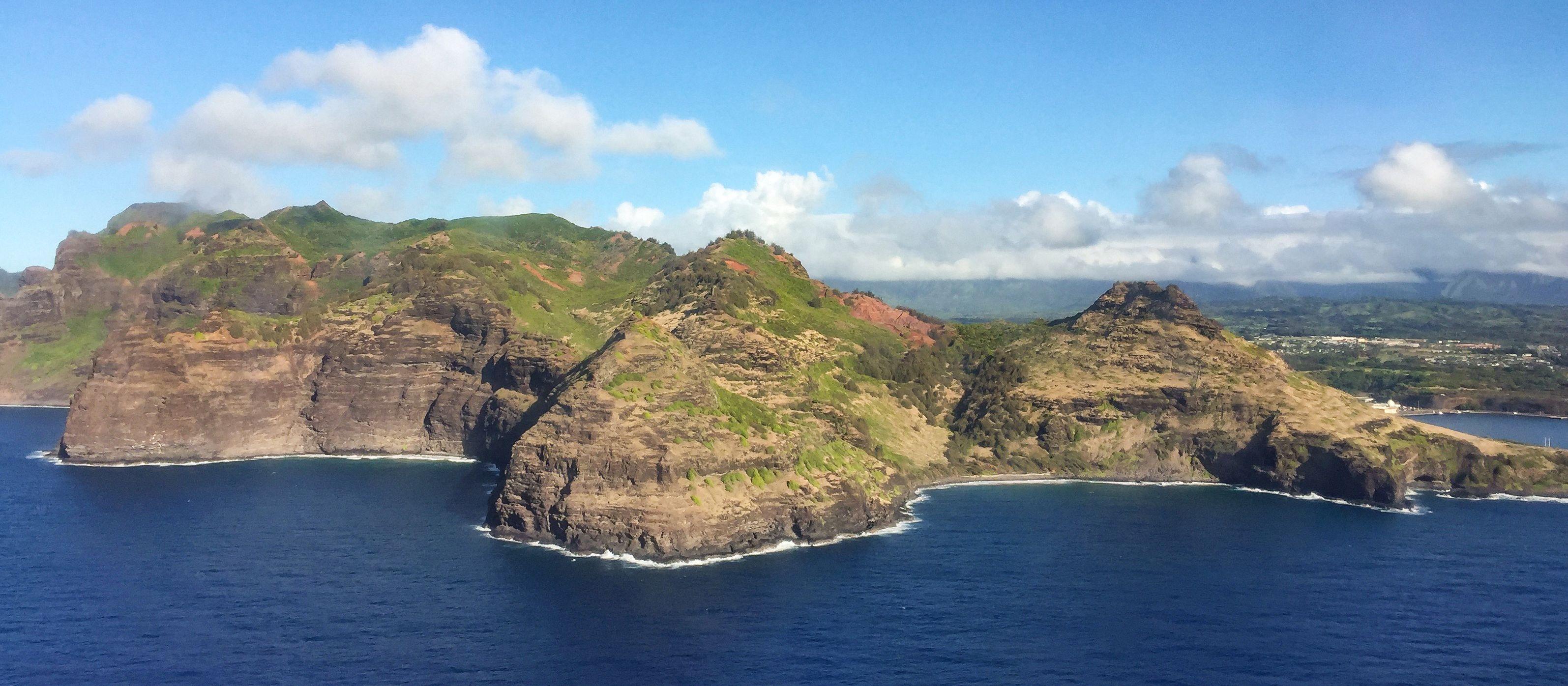 Der Blick auf die Insel Kauai