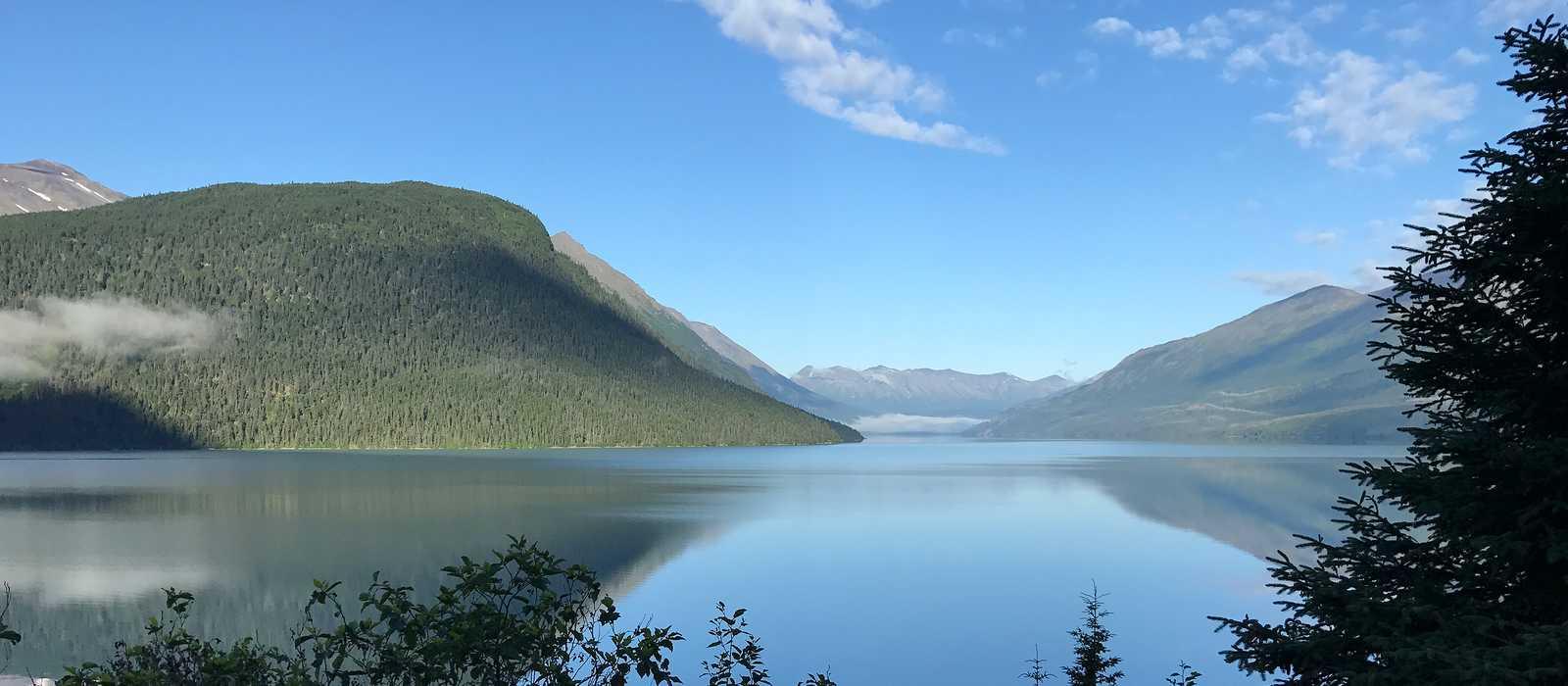 Blick auf die schöne Natur Alaskas