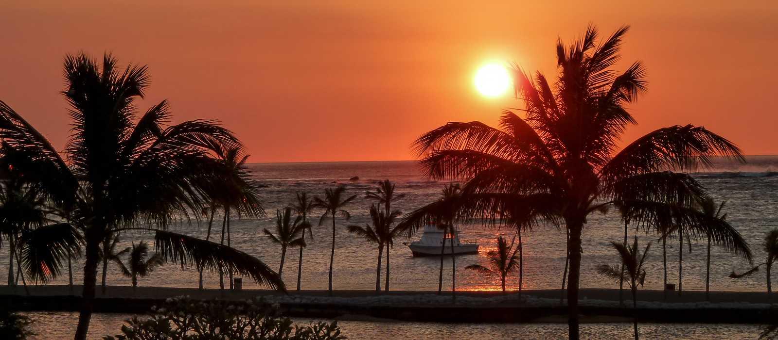 Sonnenuntergang auf Big Island, Hawaii