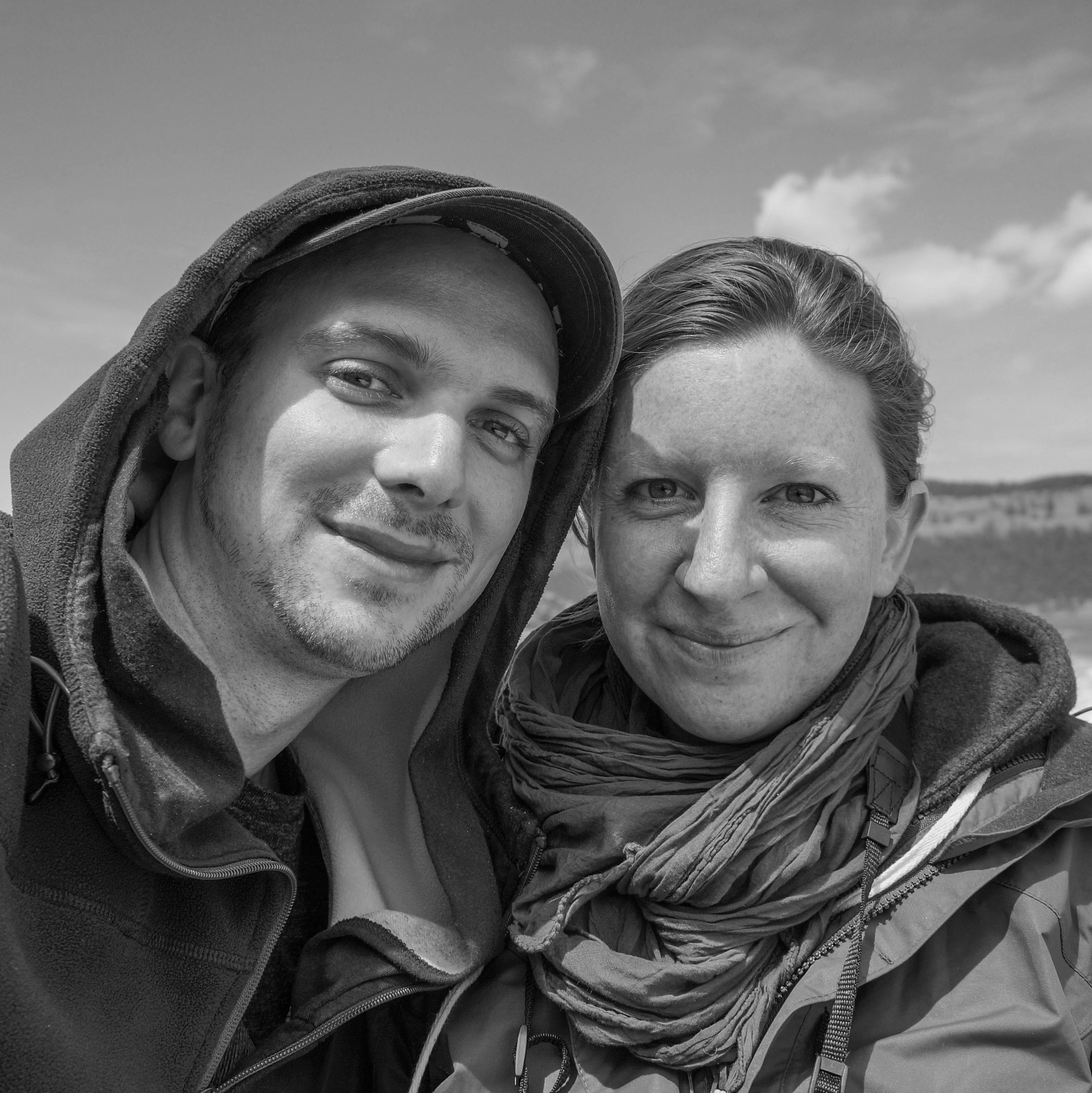 Odette und Sebastian während einer Whale Watching Tour