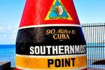 Der südlichste Punkt der USA ist an der Küste von Key West.