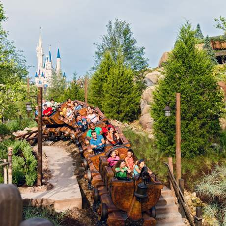 Dwarves Mine Train, Magic Kingdom, Orlando