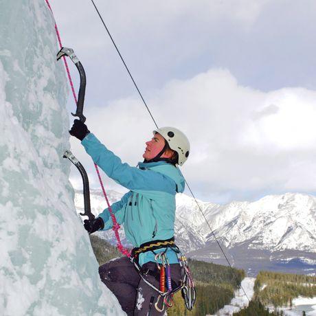 Eisklettern in Banff, Alberta