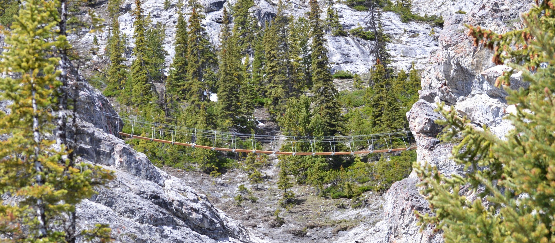 Der Via-Ferrata-Klettersteig am Mount Norquay
