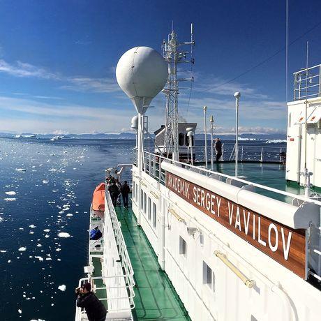 Blick auf das Eismeer von der Akademik Sergey Vavilov