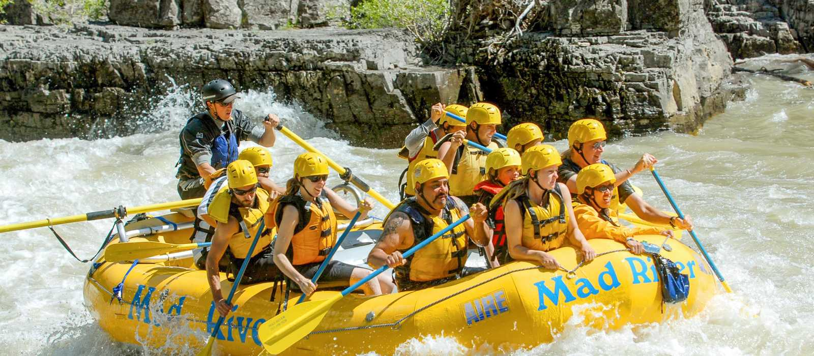 Wildwasser-Rafting in Jackson mit Mad River Boat Trips