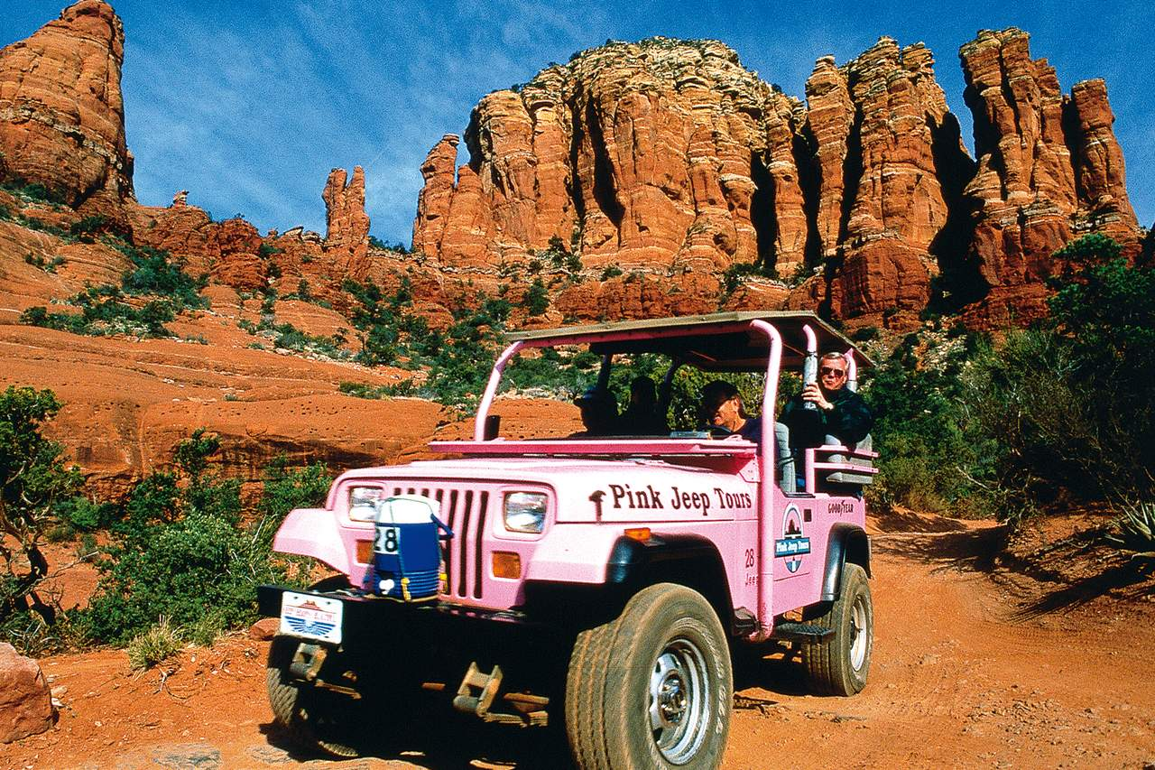 Pink Jeep Grand Canyon Classic West Rim Tour