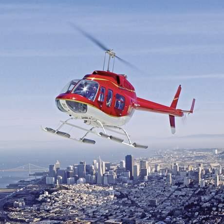 Hubschrauber ueber San Francisco
